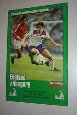EURO CHAMPIPONSHIP FOOTBALL PROGRAMME ENGLAND V HUNGARY 1983