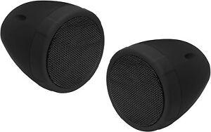 BOSS MCBK425BA 3 Waterproof Bluetooth Motorcycle Handlebar Speakers Built-In Amp