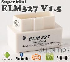 Super Mini ELM327 OBD2 V1.5 BLUETOOTH Android Car Diagnostics Scanner Tool White