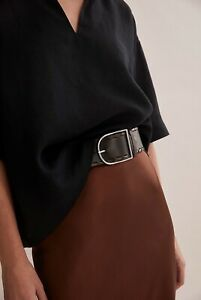 Country Road Whipstitch Leather Belt [XS] NWT $100