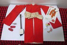 """1964 JAPAN VTG. ~""""BARBIE IN JAPAN""""~#0821~Near Complete~9 PC SET~FLOWER+PINK BUDS"""