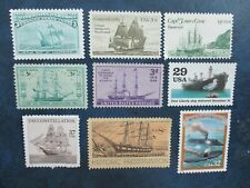 Historic American Ships U.S. Stamp Collection Of 10