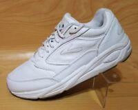 Brooks Addiction Womens White Leather Running Training Walking Sneakers 10 2E