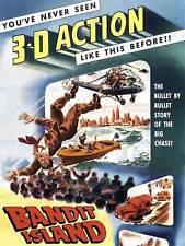 MOVIE FILM BANDIT ISLAND 3D ACTION ADVENTURE CRIME DRAMA USA POSTER ABB6520B