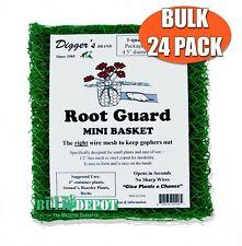 Digger's RootGuardTm Heavy Duty Gopher Wire Baskets, 1-Quart Size, Bulk 24-Qty