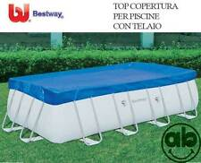 Telo top di copertura per piscine rettangolari con telaio Bestway varie misure