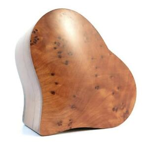 Heart Shape Thuya Wood Trinket / Jewellery / Memory Box Hand-Carved In Morocco