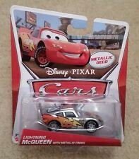 Disney Pixar Cars 2 • Lightning McQueen with Metallic Finish • Metallic Deco