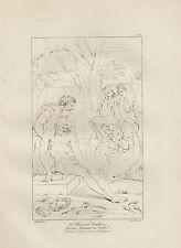 1803 Raffaello incisione in acciaio Cristo alla tomba