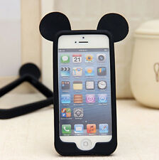 Cartoon 4 Colors Mickey Ear Phone Cases Silicon Soft Cover Case For iPhone 4S 4G