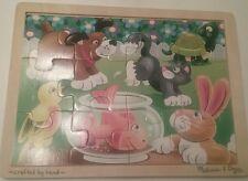 Melissa & Doug Puzzle Playful Pets Wooden