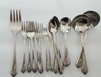 Oneida Community Fantasy Rose Stainless Flatware 18 Piece Mixed Lot
