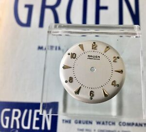 Vintage Gruen 422SS NOS 27.5mm watch dial gold markers nice original lume dots