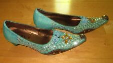 New S.M.T SMT Wms Fun Teal Jeannie Shoes 39 US 8 *Sharp Must C*