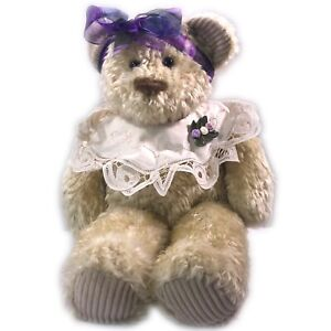 First & Main Cream Colored Teddy Bear Chantilly Plush Beany Stuffed Animal