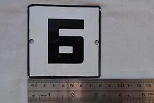 VINTAGE Enameled Porcelain Tin Sign Bulgarian Letter  Б  3.1 in x 3.1 K 5