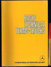 TRUCKS Lorries BASIC TECHNICAL TERMS HANDBOOK Daimeler Benz 88pg Handbook