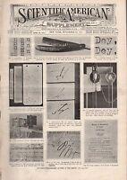 1911 Scientific American Supp November 11-New Zealand;REP Monoplane; Relativity