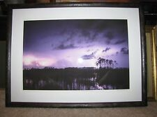 "Brian Call ""Lightning Reflections, Everglades"" Framed Photograph 17""x25"" 1/100"