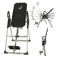 Inversion Table Deluxe Fitness Chiropractic Table Back Pain Relief Exercise New