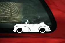 Lowered classic car outline stickers - for Morris Minor MM Tourer convertible