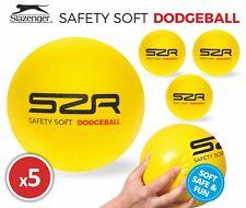 5x Slazenger Safety Soft Foam Indoor/Outdoor Play Dodgeball Ball 15cm Brand New