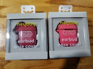 2 Heyday Silicone Case for Apple AirPod Gen 1 & Gen 2 Pink & Rose Red - NEW
