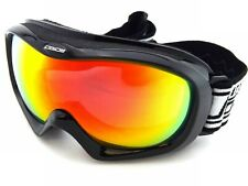 DIRTY DOG ski goggles SCOPE medium fit Black with Fed Fusion Mirror Lens 54063