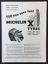 Magazine Advert MICHELIN X TYRES Car AUTOMOBILE 1961 Full Page VINTAGE