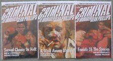 CRIMINAL Vol.2 #1-3 SET..ED BRUBAKER/SEAN PHILLIPS..ICON 2008 1ST PRINT..VFN+