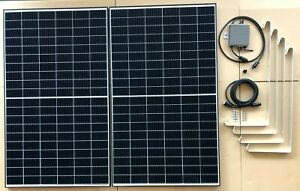 BKKW 750 Watt Balkonkraftwerk Mini PV Photovoltaik Solaranlage inkl Halterung