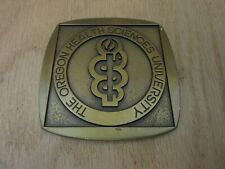 "Oregon Health Sciences University Medical School 3"" Square Medallion with Logo"