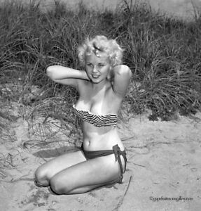 Bunny Yeager 50s Camera Negative Photograph Bottled Blonde Pin-Up Lisa Winters