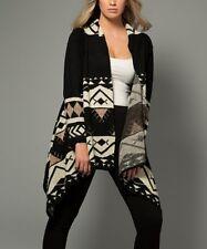 Black & Ivory Open Cardigan Size UK 8 Ladies Womens Slight Shimmer BNWT #1190