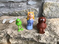 3 Pc Vintage Muppets Rowlf the Dog, Kermit The Frog, Miss Piggy Puppet Figures