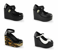 "Demonia POISON 02 03 04 Women's 5"" Wedge Platform"
