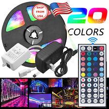 LED tira de luz de 5 Metros Multicolor SMD 44 clave remoto 12V kit completo