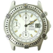 TAG HEUER 2000 WHITE DIAL STAINLESS STEEL 40MM WATCH HEAD 169.806