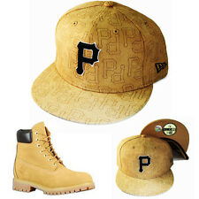 New Era MLB Pittsburgh Pirates 5950 Fitted Hat Matching Timberland Boots Cap