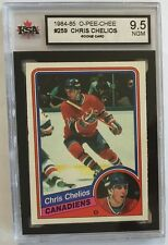 1984-85 O-PEE-CHEE #259 Chris Chelios KSA Near Gem Mint (9.5)