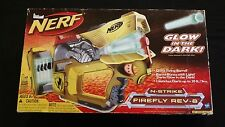New Nerf N-Strike REV 8 Firefly Dart Gun Blaster Yellow Glow in the Dark