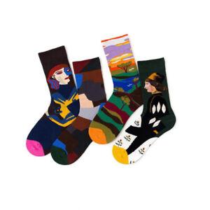 Unisex Creative Harajuku Socks Art Abstract Oil Painting Socks French Style Sock