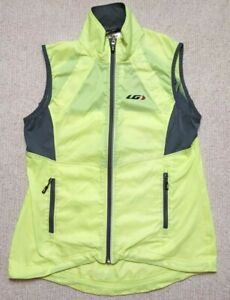 Louis Garneau Women's Lightweight Full Zip Cycling Vest Bright Yellow - Large