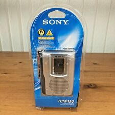 NEW Sony TCM-150 Cassette Player Clear Voice Handheld Recorder Microphone Player