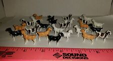 1/64 ERTL FARM TOY QTY OF 25 ASSORTED COLORED GOATS FOR YOUR DISPLAY NEW IN BAG