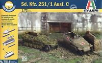 Italeri 1/72 7516 WWII German Sd.Kfz.251/1 Ausf.C (2 Fast Assembly Models)