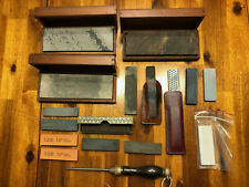 Sharpening Stones, Honing Stones, Sharpening Steel for knives - LOT