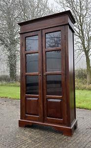 Vintage Glazed Solid Indian Wood Storage Cabinet