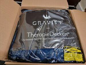 Gravity therapy blanket, weight blanket, heavy blanket 130 x 200cm 10KG Blue