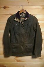 Women's Barbour Morris Co Scholar Jacket Coat UK 8 Olive Green